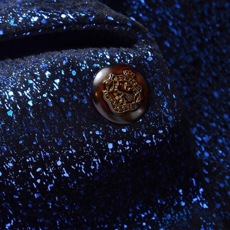 festa dança terno masculino de alta qualidade único botão terno blazers