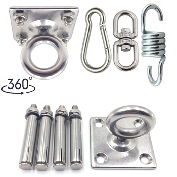 Hammock Bracket Suspension Hook Sex Swing Hanger Buckle Ceiling Mount Kit Accessories For Hanging Chair Gym Fitness Aerial Yoga