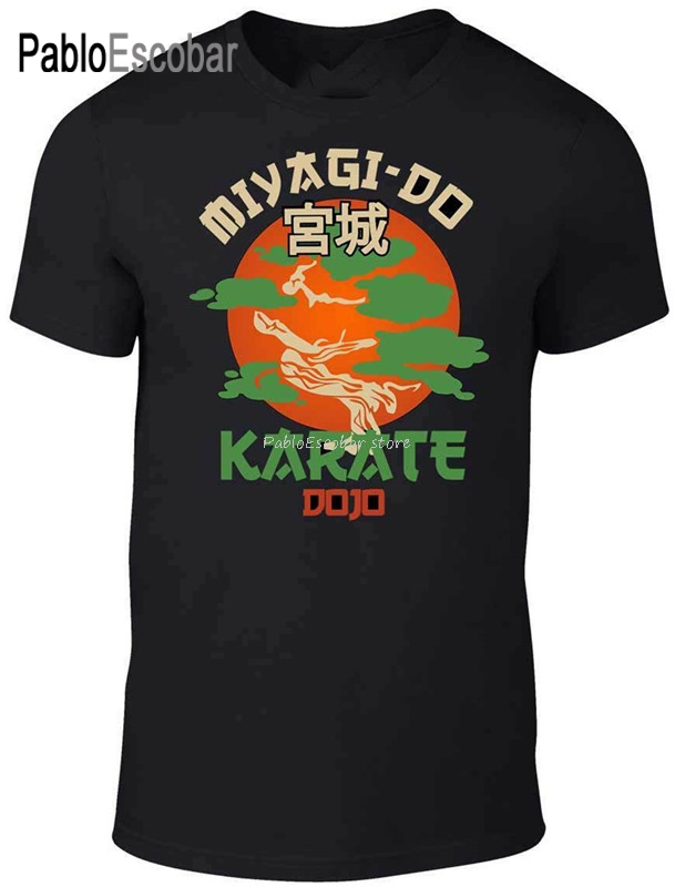 Camiseta de algodão miyagi do jo-inspirado no karate filme infantil engraçado arte marcial retro legal harajuku camiseta