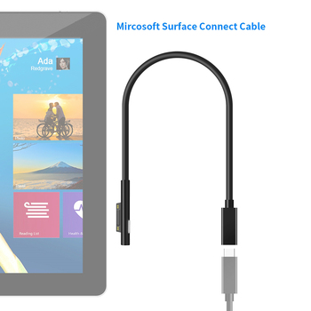 PD 15V USB Type C Charging Cable Adapter Converter for Microsoft Surface Pro 7/6/5/4/3/GO/BOOK Laptop 1/2 Power Charger Adaptor pd 15v usb type c charging cable adapter converter for microsoft surface pro 7 6 5 4 3 go book laptop 1 2 power charger adaptor