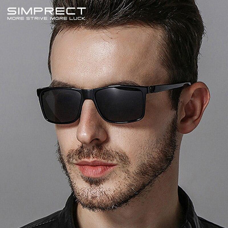 Мужские поляризованные солнцезащитные очки SIMPRECT, винтажные Квадратные Солнцезащитные очки с антибликовым покрытием в стиле ретро, 2020