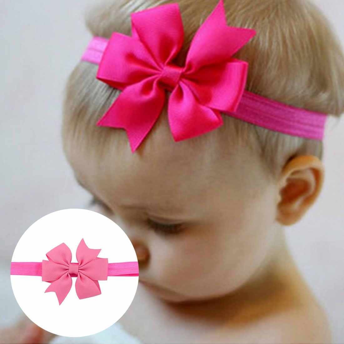 Baby Headband Crown Flower Bows Haarband Baby Girl Headbands Newborn Hair Accessories Elastic Baby Hair Band Turban