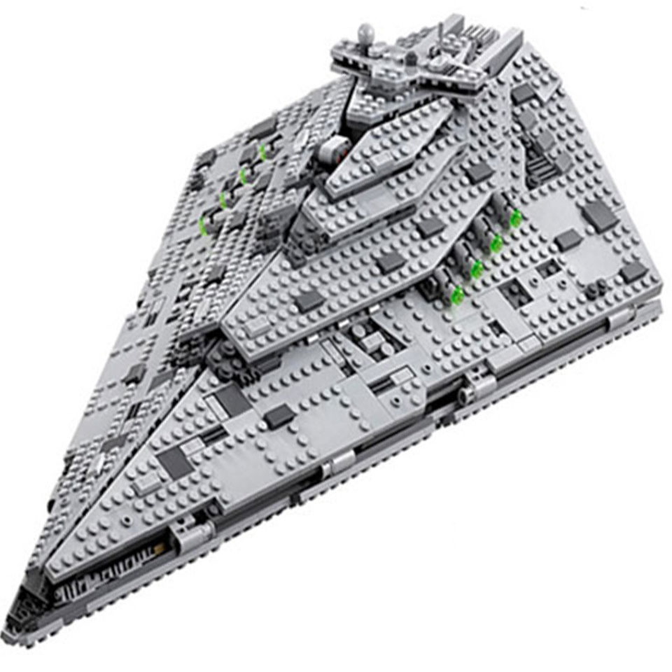 10901 Star Wars Model Destroyer Set Compatible Legoinglys 75190 Building Block Bricks StarWars Development Toys Children Gift