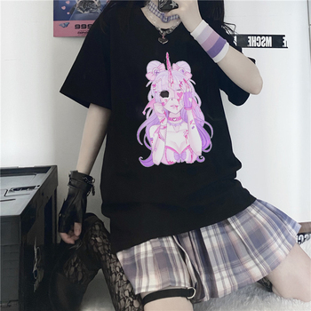 Sexy Harajuku Anime Girl Shirt Women's Clothing & Accessories Tops & Tees T-Shirts cb5feb1b7314637725a2e7: African|Black|Charcoal|Harbor White|Lemonade|Midnight|Mulberry|Pink|Shadow|Thistle|Violet|Westar|White