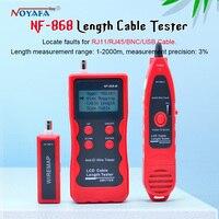 NF 868 digital Cable Tester Tracker for RJ45, RJ11 Anti jamming crosstalk/ short circuit/Lenth tester NF_868