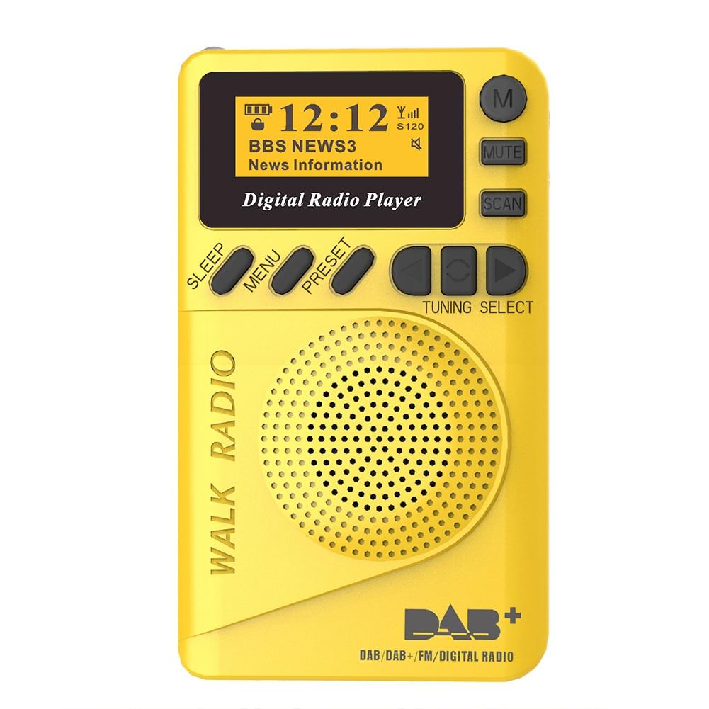 Mini MP3 Music Player USB Charging LCD Display Digital Radio Multifunction Durable ABS DAB Portable FM Audio Clear Pocket