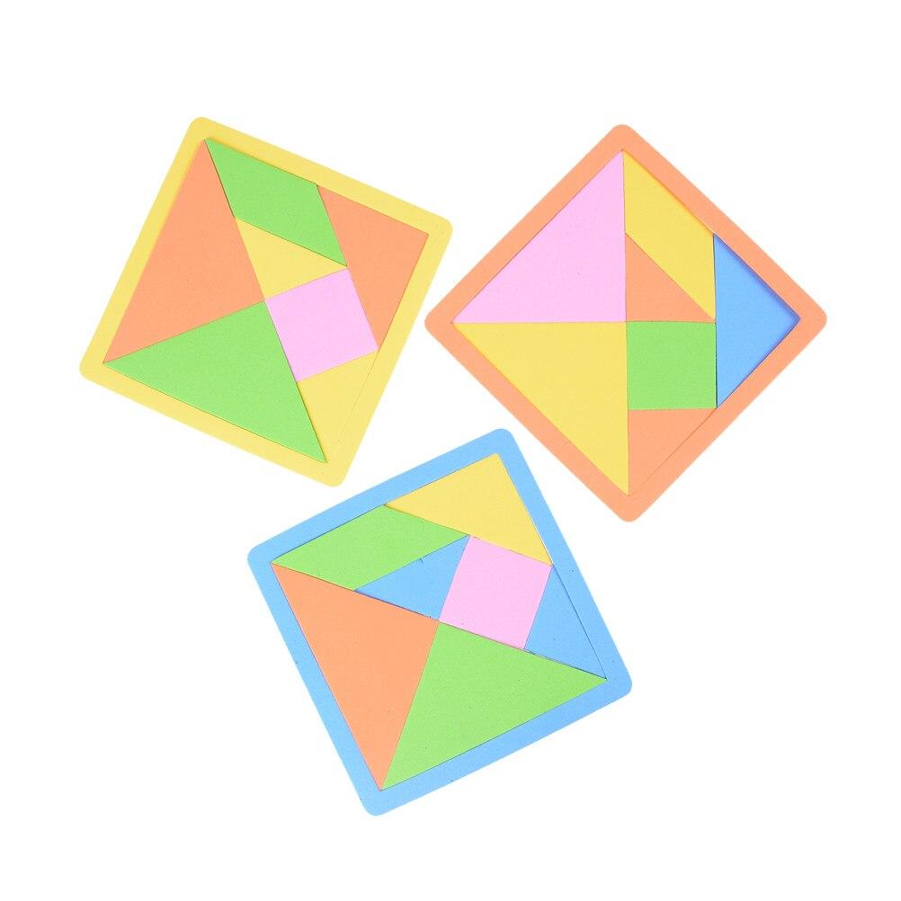MINIFRUT 1 Pc pianki EVA dzieci rozwoju psychicznego Tangram EVA Puzzle Jigsaw zabawki edukacyjne dla dzieci 14*14cm