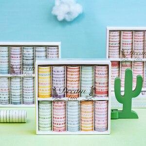 Image 1 - 100 Pcs/set Dream Line Series Decorative Washi Tape Japanese Paper Stickers Scrapbooking Vintage Adhesive Washitape Stationary
