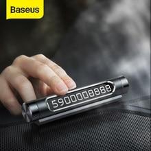 Baseus Carro Cartão de Estacionamento Temporário Luminosa Telefone Número Da Placa Auto Adesivos Gaveta Estilo Do Carro-Styling Rocker Switch