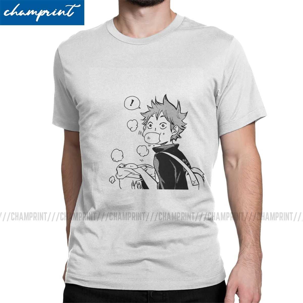 Super słodki hinata shoyo Nikuman t-shirty mężczyźni Vintage t-shirty Haikyuu Anime siatkówka Manga Tee Shirt ubrania z krótkim rękawem