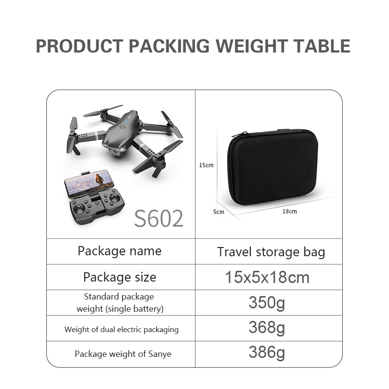 XKJ S602 RC Drone 4K HD Dual Camera Professional Aerial Photography WIFI FPV Foldable Quadcopter Height Hold DronToy 2
