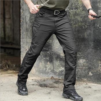 Taktyczne spodnie wojskowe męskie spodnie do joggingu Urban Cargo Casual spodnie męskie spodnie Rip-stop Worker odzież męska wiele kieszeni tanie i dobre opinie Kiixel Cargo pants Pełnej długości Mieszkanie REGULAR COTTON Poliester Midweight Suknem Kieszenie W stylu Safari Zipper fly