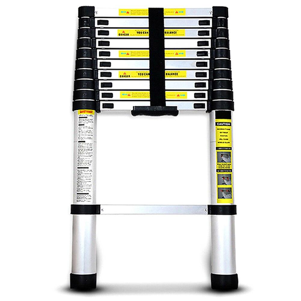 12.5FT Step Ladder Extension Telescoping Lightweight Portable Folding Telescopic For Home WWO66