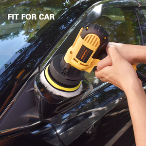 Image 5 - 8Pcs 3/4/5/6/ inch Waffle Buffer Polishing Pad Set For Car Polisher + Drill Adaptor M10 M16 Power Tools