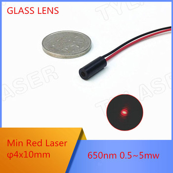 цена на Min Size Buit in PCB  D4x10mm 650nm 0.5mW 1mW 5mW Red Dot Laser Module Industrial Grade APC Driver