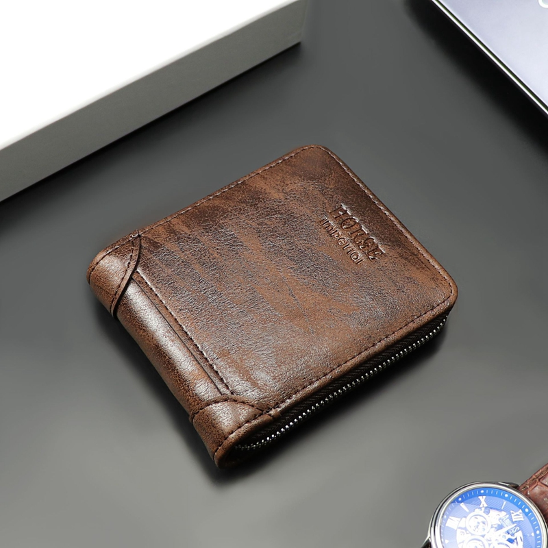 2020 New Casual Wallet Men Leather Short Purse Small Wallet For Men Multifunction Card Holder Leather Wallet Men Coin Purse