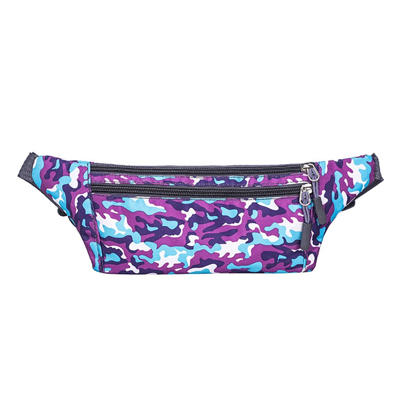 Galleria fotografica Unisex Fanny Pack Travel Bum Bag Jogging Waist Belt Walking Holiday Phone Pouch Headphone Hole Outdoor Sports Pockets
