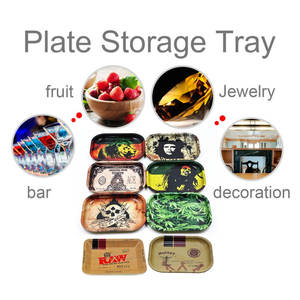 Storage-Tray Decorative Food-Plate Rectangle Metal Snack Dessert Dried-Fruit Durable