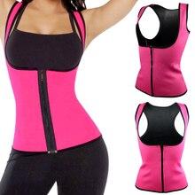 Slimming-Waist Body-Shaper Neoprene Yoga/running-Vest Plus-Size Women Underbust Black