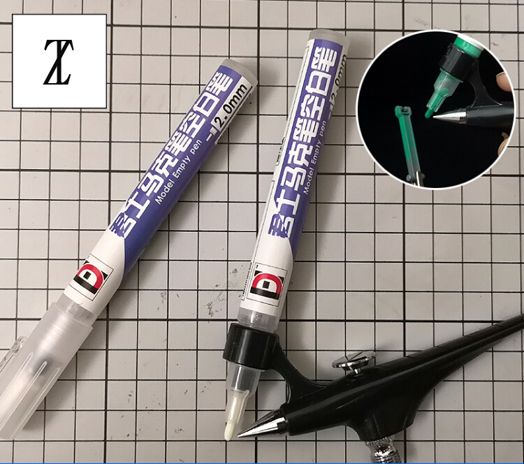 Model Painting Coloring Tool Gundam Model Painting Complementary Colour Empty Mark Pen Coloring Pen