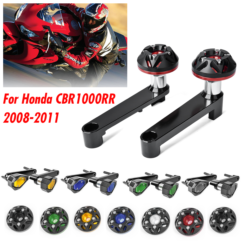 Motorcycle Engine Guard Cover Frame Sliders Crash Protector Pads For <font><b>Honda</b></font> CBR1000RR <font><b>CBR</b></font> 1000RR <font><b>CBR</b></font> <font><b>1000</b></font> <font><b>RR</b></font> <font><b>2008</b></font> 2009 2010 2011 image