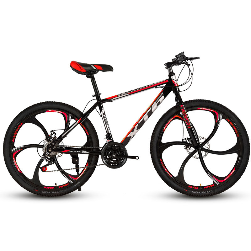 Mountain Bike 26 Inch 24 Speed Cross Country Shock Double Disc Brakes Men And Women Bicycle Student Adult