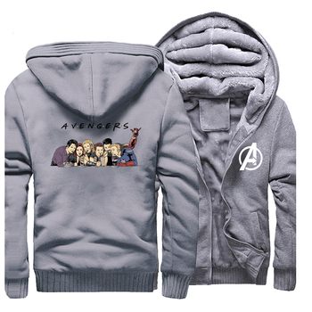 Marvel Avengers Endgame Friend Thicken Zipper Jacket Hoodies Men Fashion Plus Size Casual Sportswear Marvel Avengers Streetwear фото