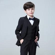 Kid Casual Blazers Suit For Baby Boy Black Child Coat Fashion Children Jacket   Costume For Boy  Graduation Suit H016