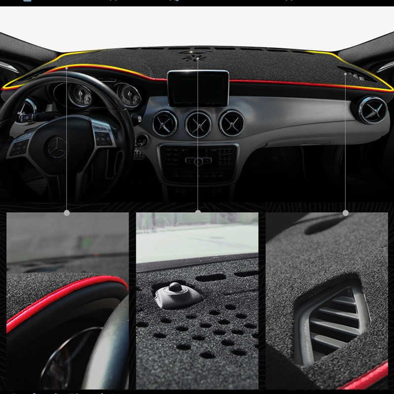 Beerte Black Car Dashboard Center Console Cover Protector Sunshield Cover Dash Mat Pad for Toyota RAV4 2019 2020 Flannel