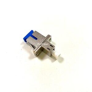 Image 3 - Sc メス lc 女性ハイブリッドアダプタ金属繊維光学コネクタパッチケーブル長方形の形状、内部チューブ