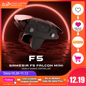GameSir F5 Falcon Pubg Triggers Games Joystick Mini Mobile Gaming Controller Plug and Play Gamepad for iOS / Android