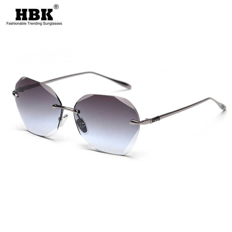 HBK สุภาพสตรี 2020 ใหม่แฟชั่น Rimless แว่นตากันแดดขายร้อน Retro VINTAGE แว่นตากันแดดแว่นตาผู้ชายผู้หญิงห้องพักช่วงวันหยุดแว่นตา UV400