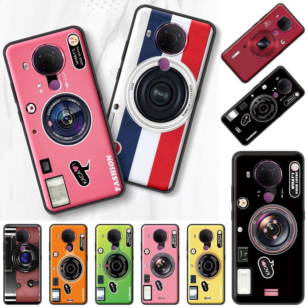 Classic Cassette Camera Len Black Case For Nokia 7.2 5.3 2.3 3.4 1.4 5.4 2.4 4.2 3.2 8.3 5G 1.3 2.2 C3 C2