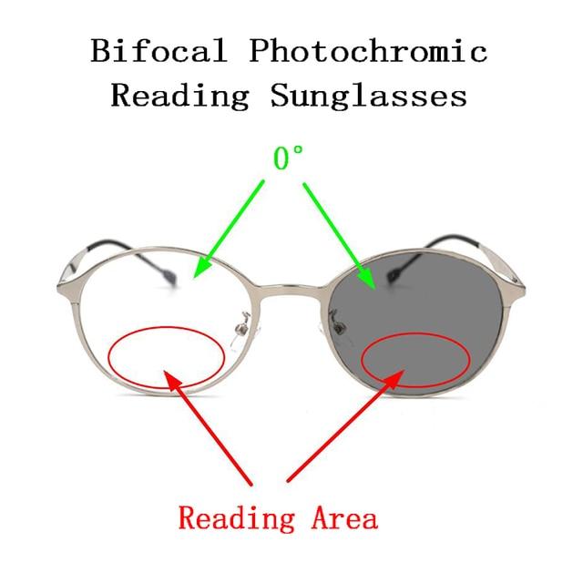 דו מוקדי Photochromic פרסביופיה משקפי שמש לנשים גברים משקפי קריאת זכוכית מגדלת מראה ליד רחוק רוחק משקפיים N5