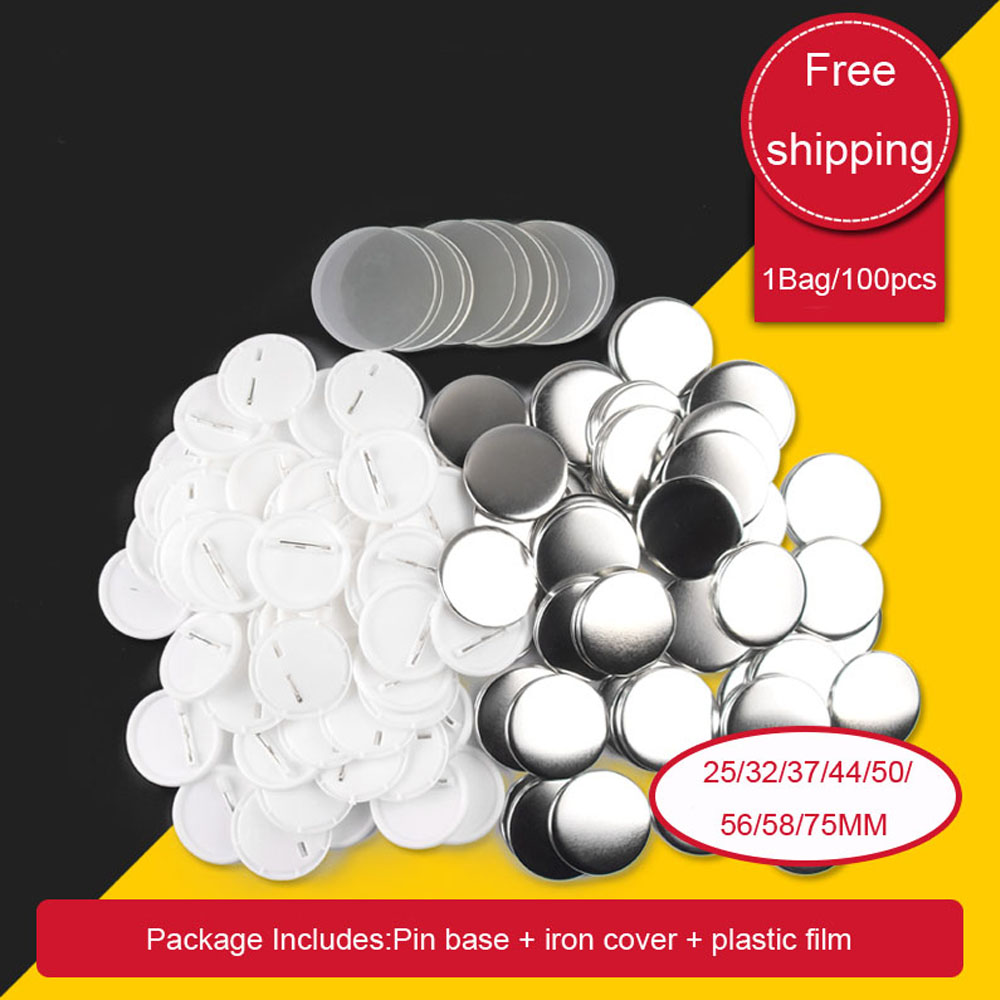 Blank Pin Button Badge Material Parts Round DIY  Making Component Badge Making Materials