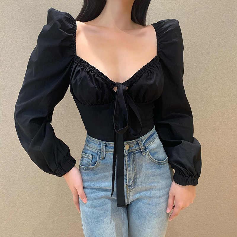 Vintage black lace tie front short sleeve blouse black lace button front tie front top sz S black lace tie up short blouse