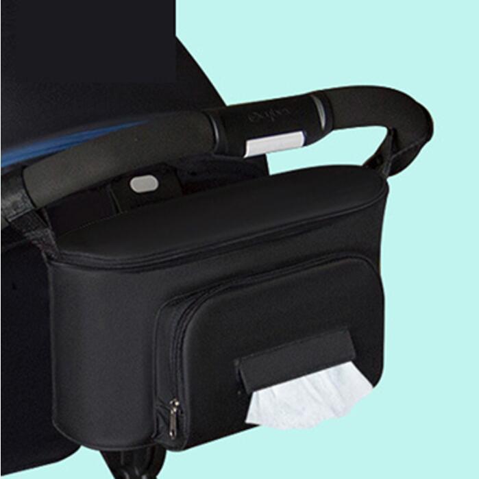 Diaper Bag For Baby Stuff Nappy Bag Stroller Organizer Baby Bag Mom Travel Hanging Carriage Pram Buggy Cart Two Bottle Bag - Цвет: Single pocket Black