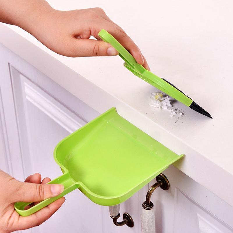 2 шт. набор, маленькая настольная щетка для чистки и совка, пластиковая нейлоновая метла, угловая клавиатура, мини пылеочиститель, совки