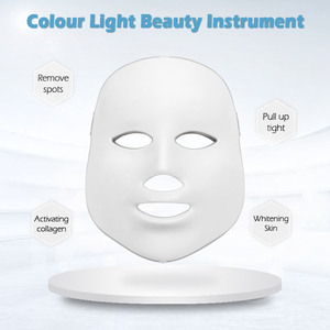 Image 2 - LED Facial Mask Therapy 7 Colors Face Mask Machine Photon Therapy Light Skin Care Wrinkle Acne Removal Face Beauty for Home use