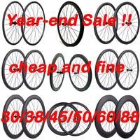 Promotion Light Carbon Wheels Cheap Road Bike Carbon Wheelset 38mm 45mm 50mm 60mm 88mm Road Bicycle Wheels