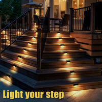 10Pcs Solar Powered LED Deck Lights Outdoor Path Garden Stairs Step Fence Lamp L9 #2