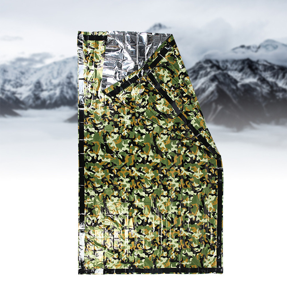 Soft Camping Outdoor Waterproof Sleeping Bag Hiking Tent Heat Preservation Foldable Home Emergency Travel Blanket Camouflage|Sleeping Bags|   - AliExpress