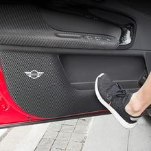 Pegatina de protección para Panel de puerta de coche, antiarañazos estera, decoración Interior, para BMW MINI ONE Cooper S F54 F55 F56 R56 R60