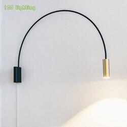 Minimalistyczna obrotowa lampa ścienna LED sypialnia sofa do salonu kinkiet gabinet lampka do czytania Loft kinkiet oświetlenie w stylu nordyckim