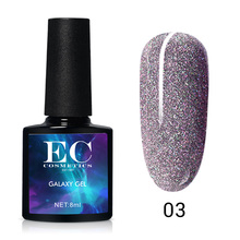 Galaxy UV Gel Nail Polish Color Set Glitter Neon Gel Lacquer Sequins Soak Off UV Gel Varnish Color Gel Shiny DIY Nail Art lilycute rose gold uv gel polish glitter sequins nail polish soak off shining uv gel polish nail art gel for christams gifts