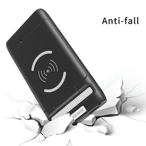 Image 5 - 3 IN 1 10000mAh Qi Wireless Charger Power Bank For Xiaomi Mi iPhone External Battery Wireless Charging Powerbank Phone Holder