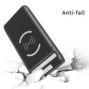 Image 5 - 3 IN 1 10000mAh Qi kablosuz şarj güç bankası için xiaomi mi mi iPhone harici pil kablosuz şarj Powerbank telefon tutucu