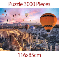 Jigsaw Puzzle 3000 pieces Turkish Hot Air Balloon Thicker Landscape Puzzle Educational Toys For Adults Children Kids Game Toys