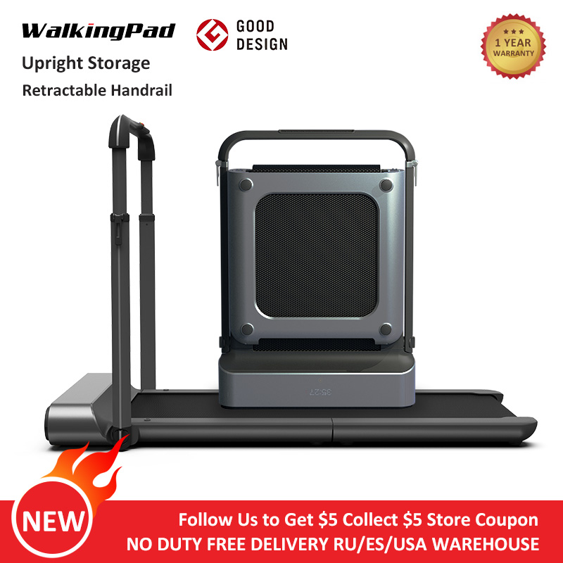 WalkingPad R1 Pro Treadmill Foldable Upright Storage 10Km/H Running Walking 2in1 APP Control With Handrail Home Cardio Workout-0