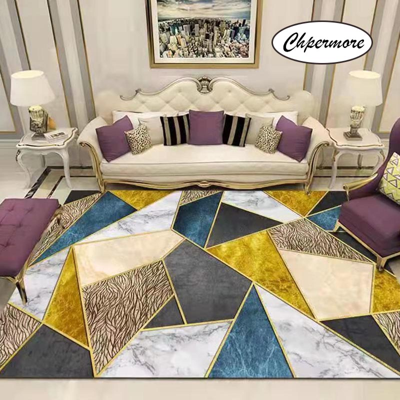 Chpermore European Retro Large Carpets Non-slip Tatami Mats Bedroom Home Lving Room Rug Floor Rugs Children's Non-slip Mat